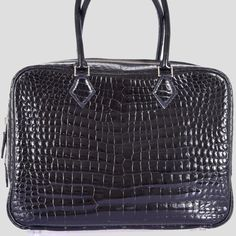 5a55d745a8df Hermes Limited Edition Plume Crocodile Black Porosus Bag 32cm
