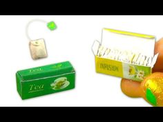 Miniature doll tea bags and box tutorial - Dollhouse DIY - YouTube
