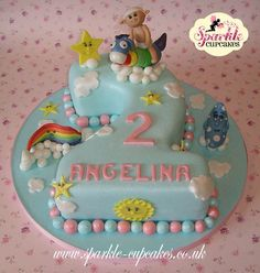 'Cloud Babies' 2nd Birthday Cake - Cake by Sparkle Cupcakes