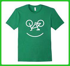 Mens Smiley Cycling Enthusiast T-shirt Small Kelly Green - Sports shirts (*Amazon Partner-Link)