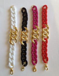 Baby Acrylic Chunky Chain Bracelets