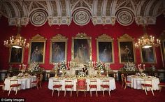 State Dining Room at Buckingham Palace