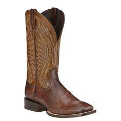 Ariat Men's Hookin Horns Western Boot Weathered Buckskin