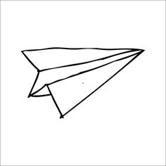 doodle paper plane set in hand drawn sketch style isolated rh pinterest com paper plane clipart paper airplane clipart