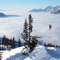 Shot this one of @stalesandbech while filming for the RK1 movie. Huge bs360 over the cotton clouds in Arlberg, Austria. Check out the bigger version in the @xgames zoom gallery❄️ Snowboarding Photography, Ski, Cotton Clouds, Austria, Mount Everest, Shots, Mountains, Film, Gallery