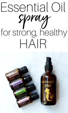 Make this simple essential oil spray for strong, healthy hair and notice the difference within weeks! These essential oils are amazing for hair health and it smells incredible. to get healthy hair DIY Mermaid Spray for Hair Growth - Mama Charming Essential Oils For Headaches, Essential Oils For Hair, Essential Oil Spray, Oil For Hair Loss, Leave In, Hair Essentials, Pelo Natural, Natural Hair, Healthy Hair Tips