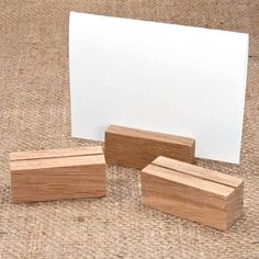 Handmade Oak Card Stand 5cm, £1.45. A really neat way of labelling shop or sales displays; ideal for farm shops, bakeries, delicatessens, restaurants, craft shops. (http://www.englishwoodlabels.co.uk/oak-card-stand/)