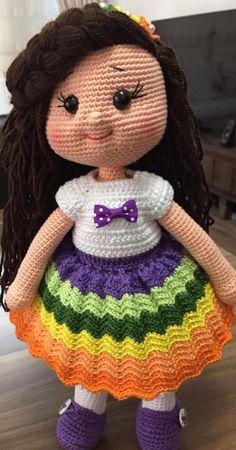 Amigurumi Crochet Pattern Ideas for Your Kids Part 26 ; amigurumi for beginners Crochet Doll Pattern, Crochet Dolls, Crochet Patterns, Crochet Hats, Amigurumi Toys, Amigurumi Patterns, Kids Part, Free Pattern, Pattern Ideas