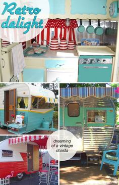 pictures of the year: Little Vintage Trailer! So cute. Hope my lil' Fireball turns out half this cute, when I'm done with it!