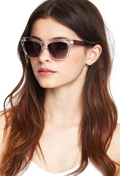 Clear Frame Sunglasses | FOREVER21 - 1000068388  #SummerForever and #F21xMe