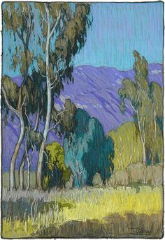 """American Legacy Fine Arts presents """"California Spring Day, San Gabriel"""" a painting by Tim Solliday."""