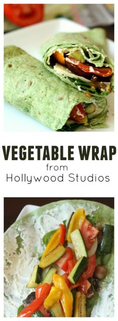 Vegetable Wrap from Hollywood Studios on Six Sisters' Stuff | This healthy and delicious wrap is a quick and easy lunch idea. A perfect summer recipe sure to keep you feeling full and energized!