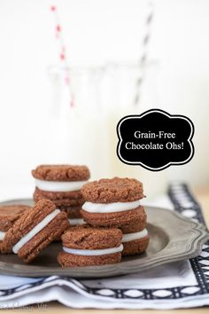 Chocolate Ohs (Grain-Free, Paleo) | DeliciouslyOrganic.net