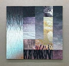 Aubade (mourning song) by Michael James Textile Fiber Art, Textile Artists, Textiles, Landscape Quilts, Contemporary Quilts, Encaustic Art, Fine Art Gallery, Fabric Art, Art Techniques