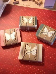 wrapping hand made soaps