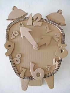 cardboard crafts - clock