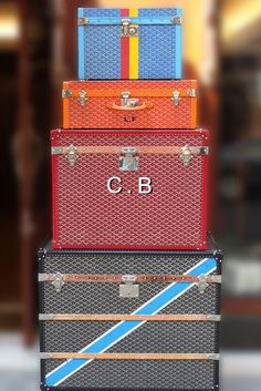 :: Goyard :: Well my goodness if you're going to look stunning you must travel to fabulous places, and if you're going to travel to fabulous places you need gorgeous luggage!