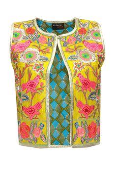 Yellow bird embroidered jacket by Surbhi Arya. Shop at: www.perniaspopups... #jacket #surbhiarya #designer #chic #shopnow #perniaspopupshop #happyshopping.