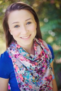 bright patterened scarf   Kelsey 2014 Senior Photo Shoot, Westfield, IN | Photographer : Such Great Heights Photography, Maya Laurent | Model: Kelsey | Carmel High Sc...