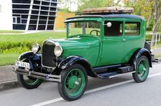 1929 Ford Model A Tudor was originally sold in Spain after being produced at the Barcelona assembly plant. In the 1930s, the owner added a gasification system, which essentially produces the car's own synthetic natural gas as a fuel by means of a wood gas generator. The process uses high temperature to turn a wood-based fuel, usually charcoal, into a burnable gas consisting of hydrogen, carbon monoxide and methane. The synthetic gas can then achieve combustion in the vehicle's engine.