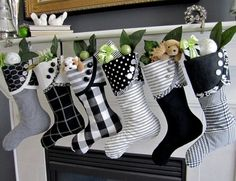 All About Design black and white Christmas socks,♥♥♥