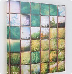 DIY Urban Outfitters wall art - would look cool with vacation photos by Sirkka Diy Wall Art, Wall Decor, Diy Artwork, 3d Wall, Photowall Ideas, Square Art, David Hockney, Art Plastique, Oeuvre D'art