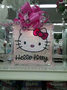 Hello kitty Glass Block
