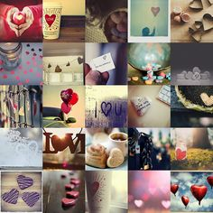 love heart collage.