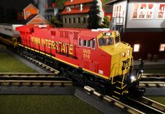 Buy It Now or Find It Locally http://mthtrains.com/30-20317-1 Passing through town today the just arrived and in-stock MTH RailKIng O Gauge Iowa Interstate ES44AC 30-20317-1. The RailKing ES44AC operates on O-31 curves and this just arrive Iowa Interstate model has a MSRP of $329.95. Ask your MTH Dealer about getting one today.