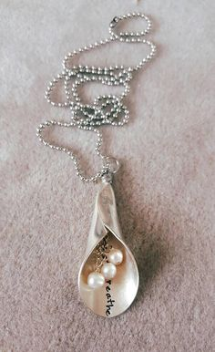 Vintage spoon lily necklace
