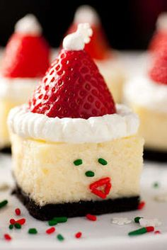 The Santa Hat Cheesecake is a Cute Christmas Dessert #food trendhunter.com