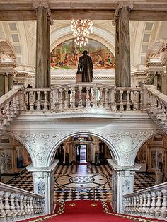 Grand Staircase And Copula At Belfast City Hall Print by Barry O Carroll Belfast City, Grand Staircase, Fine Art America, Taj Mahal, Ireland, Building, Prints, Photography, Fotografie