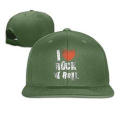 5663c051355 ForestGreenAowar I Love Rock N  Roll Style Baseball Caps Trucker Hats Event  Logo