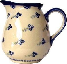 Polish Pottery 1L Pitcher / Water or Milk Jug | Home of Polish Pottery