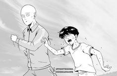 One Punch Man and Mob Psycho 100 One Punch Man, Saitama, Jojo's Bizarre Adventure, Manga Anime, Mob Psycho 100 Anime, Mob Physco 100, My Hero Academia, Anime Crossover, Demon Slayer