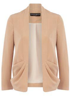 Apricot drape jacket.