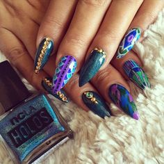 Stiletto nails☻LOVE♥