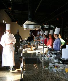 The Culinary Studio @ Chateau Elan - Custom designed teaching kichen featuring themed weekend Cooking Classes in the Winery.