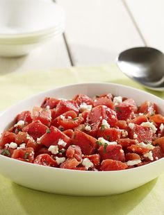 Need a quick side dish? This refreshing Grilled Watermelon, Tomato and Feta Salad is ready in a snap!