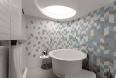 modern bathroom / bathroom tiles ideas / round bath