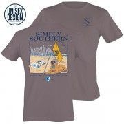 Simply Southern Steel Gray Unisex Dog Raised By Southern Traditions Short Sleeve T-Shirt