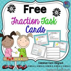 Free DownloadsThis is a free download of Fraction Task Cards for Centers. These are hands-on math task cards that use the relationships between Pattern Blocks to build and challenge fraction knowledge. The free download of activities is not only fun and engaging, but the activities help kids learn independently!Each activity allows for individual creativity while building student understanding of fractions!