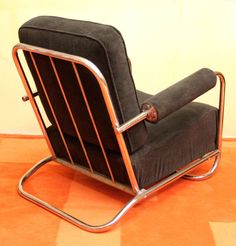 Gilbert Rohde Art Deco Machine Age Lounge Chair | From a unique collection of antique and modern lounge chairs at http://www.1stdibs.com/furniture/seating/lounge-chairs/