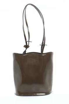 Furla Taupe Glazed Leather Mini Shoulder Bag - $25