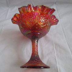 Hey, I found this really awesome Etsy listing at https://www.etsy.com/listing/225031437/vintage-fenton-amberina-carnival-glass