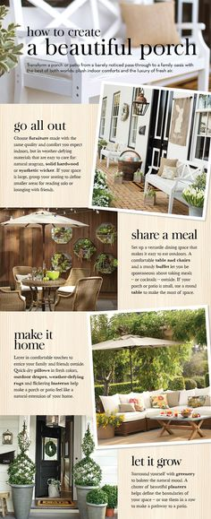 how to create a beautiful porch