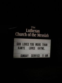 I guess I should go to church..