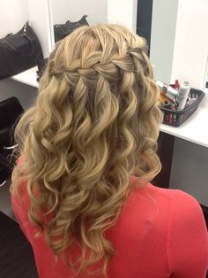 High lights and waterfall braid. Hair by me at The Cut Above London.
