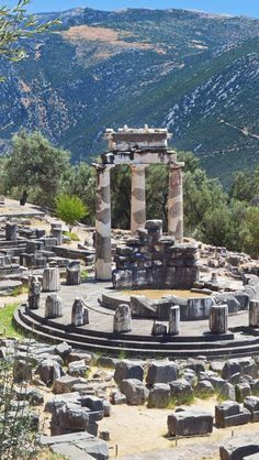 Greece, Archaeological Site of Delphi Places Around The World, The Places Youll Go, Travel Around The World, Around The Worlds, Oh The Places You'll Go, Wonderful Places, Beautiful Places, Voyager C'est Vivre, Delphi Greece