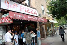Joe's Pizza - New York, NY, United States. Eating on the go